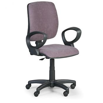 Kancelářská židle TORINO I, šedá s područkami, plastový kříž