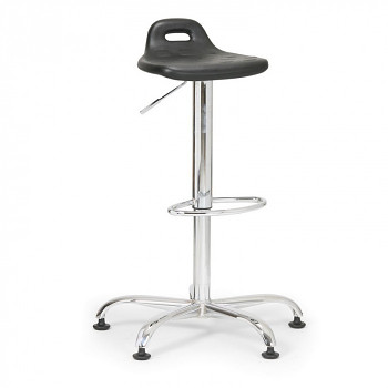 Laboratorní stolička s opěrkou, kluzáky