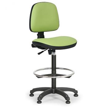 Pracovní židle MILANO zelená bez područek, kluzáky