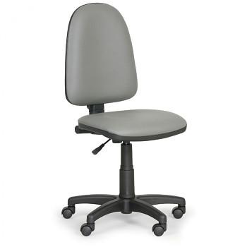 Pracovní židle TORINO šedá bez područek, plastový kříž