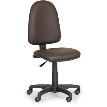 Pracovní židle TORINO hnědá bez područek, plastový kříž