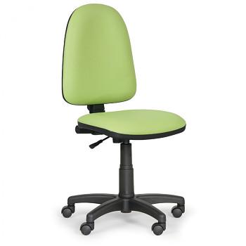 Pracovní židle TORINO zelená bez područek, plastový kříž