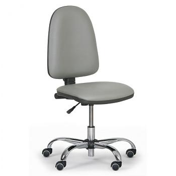 Pracovní židle TORINO šedá bez područek, kovový kříž