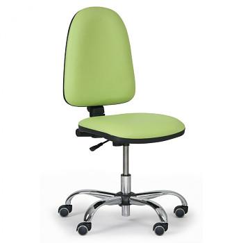 Pracovní židle TORINO zelená bez područek, kovový kříž