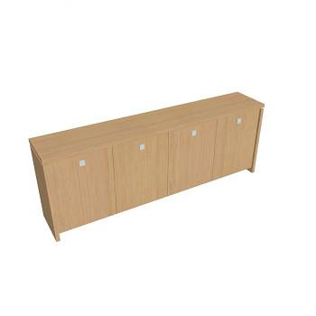 Kancelářská skříň,  900x2480x460, přír. sv. dub, ASSIST