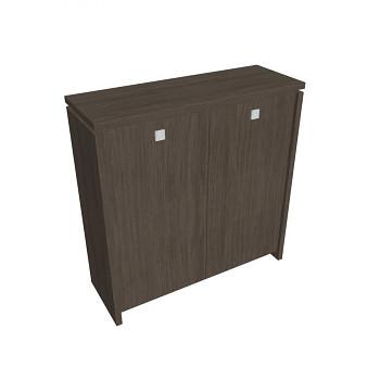Kancelářská skříň, 1300x1280x460, dub antracit, ASSIST