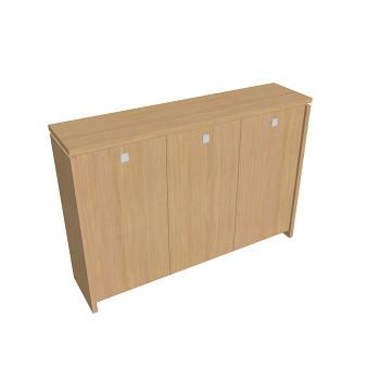 Kancelářská skříň, 1300x1880x460, přír. sv. dub, šatní, ASSIST