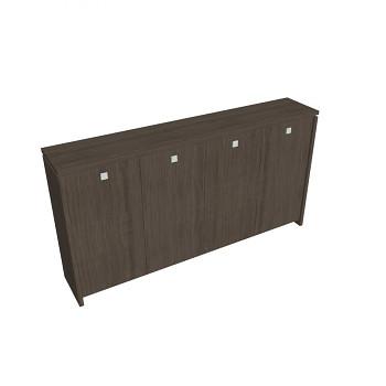 Kancelářská skříň, 1300x2480x460, dub antracit, šatní, ASSIST
