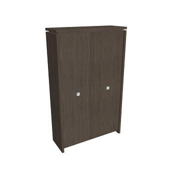 Šatní skříň kancelářská, 2100x1280x460, dub antracit, ASSIST
