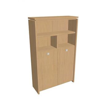 Kancelářská skříň, 2100x1280x460, přír. sv. dub, kombinovaná šatní, ASSIST