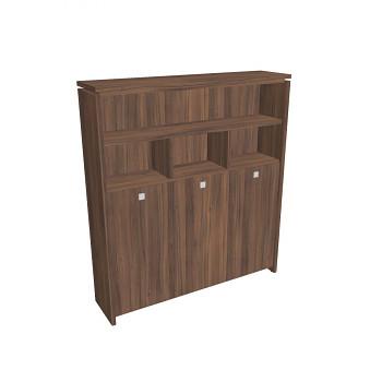 Kancelářská skříň, 2100x1880x460, ořech, kombinovaná šatní, ASSIST