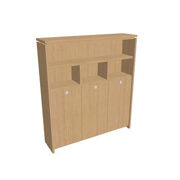 Kancelářská skříň, 2100x1880x460, přír. sv. dub, kombinovaná šatní, ASSIST