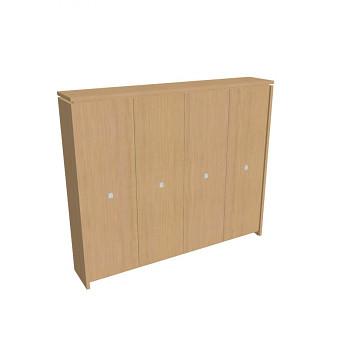 Kancelářská skříň, 2100x2480x460, přír. sv. dub, šatní, ASSIST