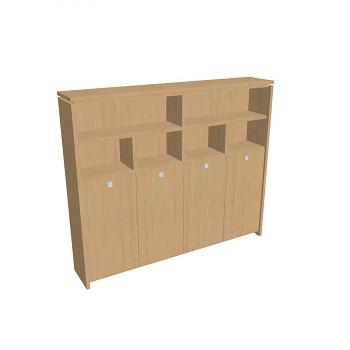 Kancelářská skříň, 2100x2480x460, přír. sv. dub, kombinovaná šatní, ASSIST