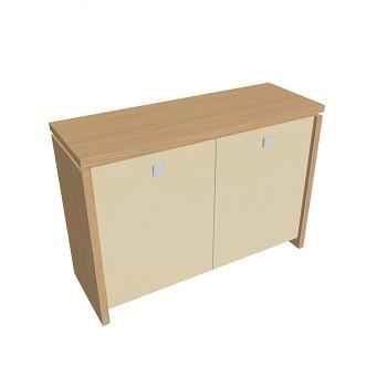 Kancelářská skříň,  900x1280x460, přír. sv. dub, sklo, ASSIST