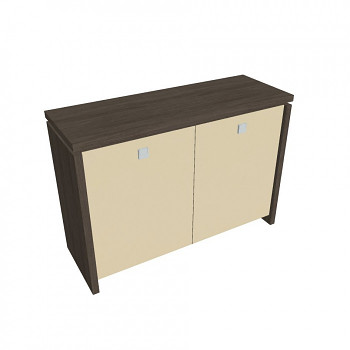 Kancelářská skříň,  900x1280x460, dub antracit, sklo, ASSIST