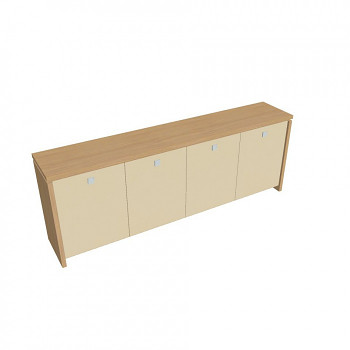 Kancelářská skříň,  900x2480x460, přír. sv. dub, sklo, ASSIST