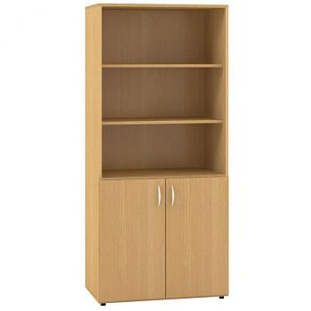 Kancelářská skříň, 1780x 800x470, buk, kombinovaná 1, CLASSIC