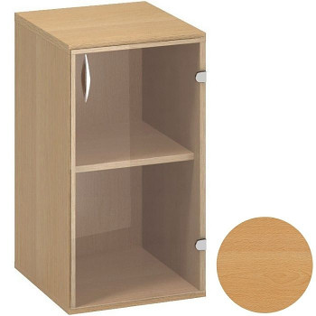 Kancelářská skříň,  735x 400x458, buk, pravá sklo, CLASSIC
