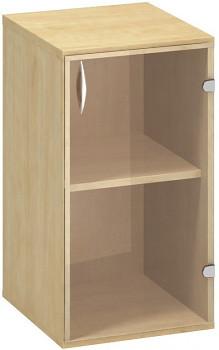 Kancelářská skříň,  735x 400x458, divoká hruška, pravá sklo, CLASSIC