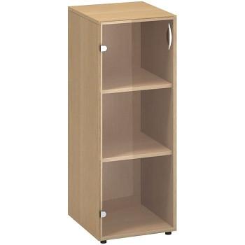 Kancelářská skříň, 1063x 400x458, buk, levá sklo, CLASSIC