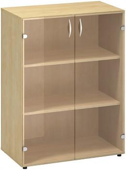 Kancelářská skříň, 1063x 800x458, divoká hruška, sklo, CLASSIC