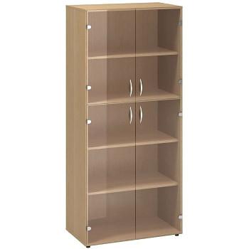 Kancelářská skříň, 1780x 800x458, buk, sklo, CLASSIC
