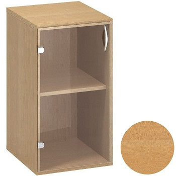 Kancelářská skříň,  735x 400x458, buk, levá sklo, CLASSIC