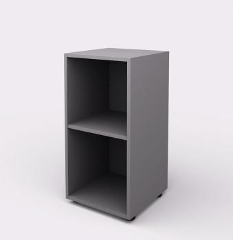 Kancelářská skříň,  800x 399x404, šedá, police, WELS