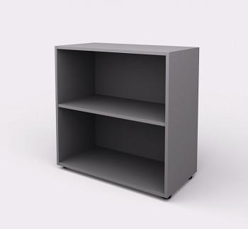Kancelářská skříň,  800x 798x404, šedá, police, WELS
