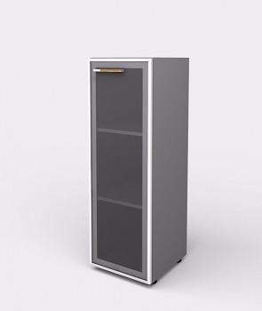 Kancelářská skříň, 1195x 399x425, šedá, pravá sklo, WELS