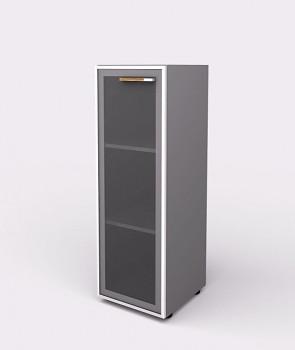 Kancelářská skříň, 1195x 399x425, šedá, levá sklo, WELS