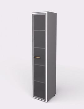 Kancelářská skříň, 1965x 399x425, šedá, sklo, WELS