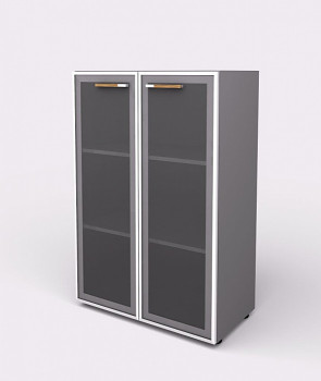 Kancelářská skříň, 1195x 798x425, šedá, sklo, WELS