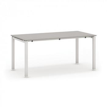 Jednací stůl 1600x 600x 745, šedá, podnož šedá, AIR