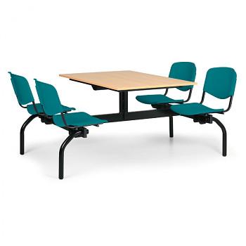 Jídelní set - zelená plastová sedadla