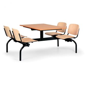 Jídelní set - buková dřevěná sedadla
