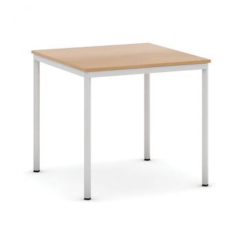 Jídelní stůl  800x 800x 735, buk, podnož světle šedá, JHN