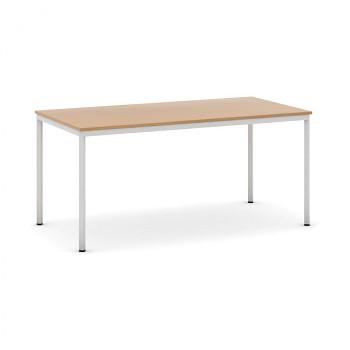 Jídelní stůl 1600x 800x 735, buk, podnož světle šedá, JHN