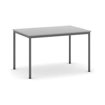 Jídelní stůl 1200x 800x 735, světle šedá, podnož tmavě šedá, JHN