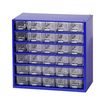 Kovová závěsná skříňka se zásuvkami, 30xA