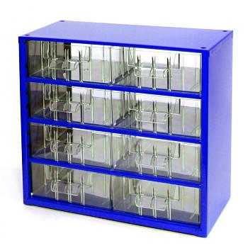 Kovová závěsná skříňka se zásuvkami, 8xB