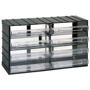 Modulové skříňky s průhlednými zásuvkami