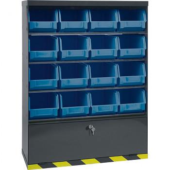 Skříňky plastovými s boxy a přihrádkou