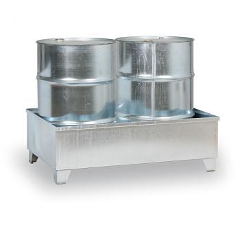 Záchytná vana bez roštu 240 l, pro 2x sud, pozink