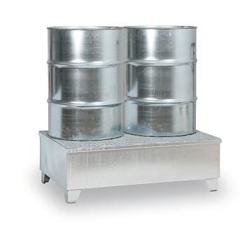 Záchytná vana s roštem 240 l, pro 2x sud, pozink