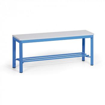 Šatní lavička, sedák - lamino 1000, s roštem