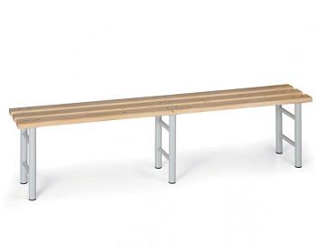 Šatní lavička, sedák - latě, šedé nohy