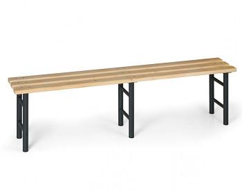 Šatní lavička, sedák - latě, nohy antracit