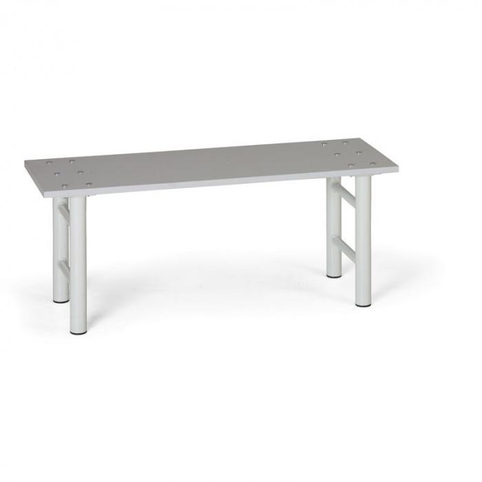 Šatní lavička, sedák - lamino, nohy šedé